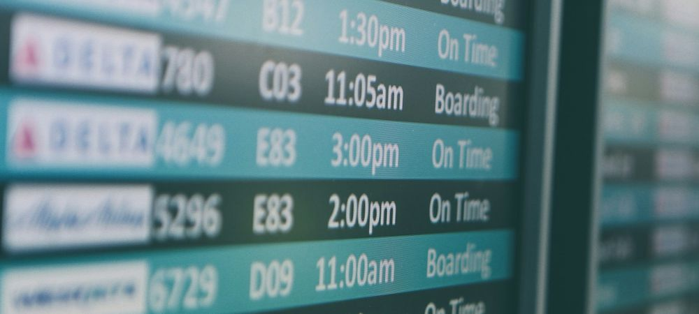 航空チケットの時差の取り扱い