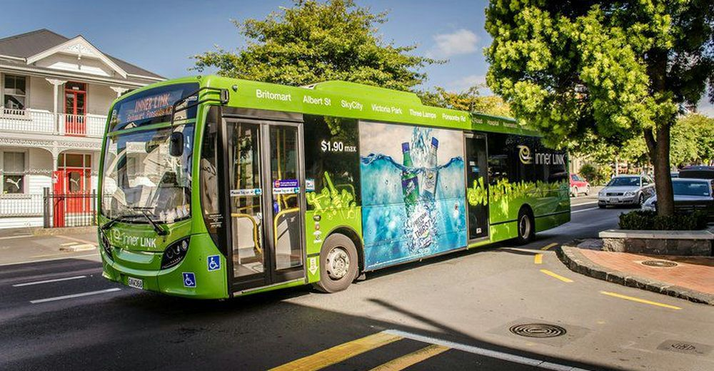 路線バスを利用してシティ中心部に出る
