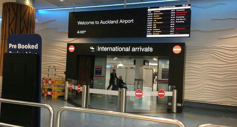 オークランド空港 国際便到着ゲート前