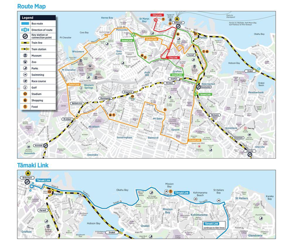 リンクバス(Link Bus)のマップ